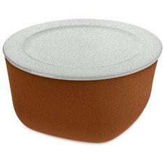 Контейнер для хранения продуктов connect xl organic 4 л коричневый Koziol