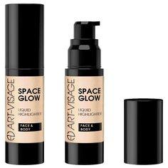 ART-VISAGE Жидкий хайлайтер Space Glow для лица и тела 21, sunset