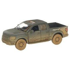 Детская инерционная металлическая машинка с открывающимися дверями, модель 2013 Ford F-150 SVT Raptor грязный, черный Serinity Toys