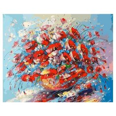 Картина по номерам Цветочная палитра лета, 40x50 см. Белоснежка