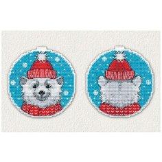 Набор для вышивания «Новогодний Мишка», 8,4x8,8см (2 шт.) см, Овен