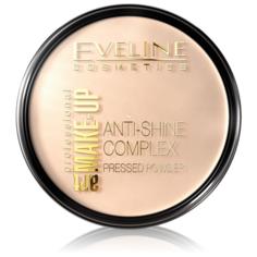 Eveline Cosmetics Пудра Art Make-Up Professional компактная Anti-Shine Complex Pressed Powder 33 Golden Sand