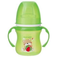 Поильник-непроливайка Canpol Babies 35/207, 120 мл зеленый/мишка