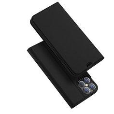 Флип чехол-книжка для Iphone 12 Pro Max с функцией подставки и с отсеком для карт черный 100gadgets