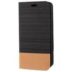 Чехол горизонтальная книжка подставка на силиконовой основе с отсеком для карт и тканевым покрытием для Sony Xperia 1 II черный 100gadgets