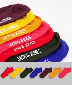 Набор из 7 пар спортивных носков разных цветов Jack & Jones-Multi