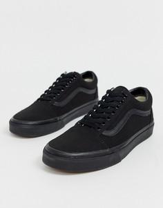 Черные кроссовки Vans Old Skool-Черный цвет