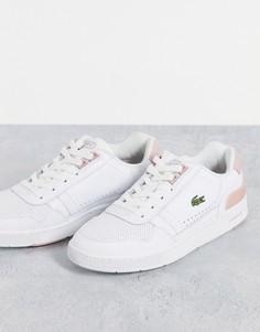 Розовые кроссовки Lacoste T-clip-Розовый цвет