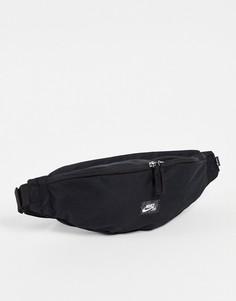 Черная поясная сумка Nike SB Heritage-Черный цвет