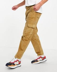 Светло-бежевые вельветовые брюки карго с короткими штанинами ASOS DESIGN-Светло-бежевый цвет