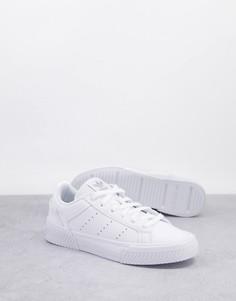Белые кроссовки adidas Originals Court Tourino-Белый