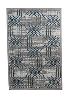 Ковер ворсовый NUR серый белый синий 100х150 арт. УК-1032-03 Kamalak tekstil