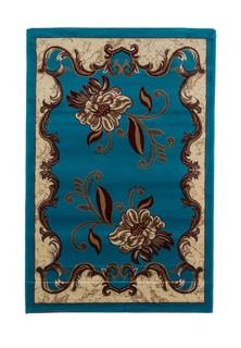 Ковер ворсовый ORHIDEA голубой бежевый 100х150 арт. УК-1040-03 Kamalak tekstil