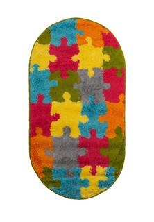 Ковер ворсовый SHAGGY пазлы мультицвет 80х150 арт. УК-1010-04 овал Kamalak tekstil