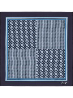 Ermenegildo Zegna платок-паше с геометричным принтом
