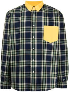Lacoste клетчатая рубашка на пуговицах