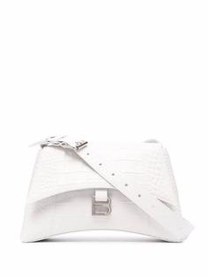 Balenciaga маленькая сумка на плечо Hourglass с тиснением под крокодила