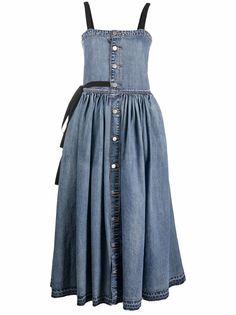 RED Valentino джинсовое платье миди на пуговицах