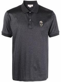 Alexander McQueen рубашка поло с короткими рукавами с декором Skull