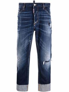 Dsquared2 прямые джинсы средней посадки