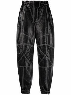Stella McCartney зауженные брюки Lacey с контрастной строчкой