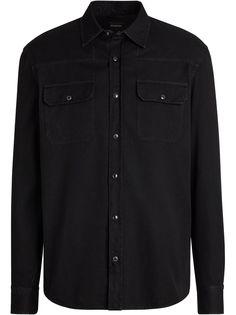 Ermenegildo Zegna джинсовая рубашка с длинными рукавами