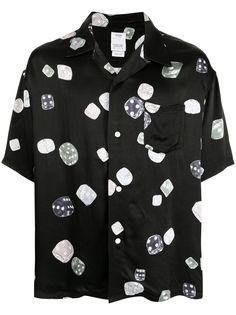 visvim рубашка с короткими рукавами и графичным принтом