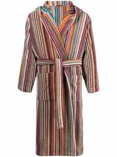 Missoni Home полосатый халат с поясом