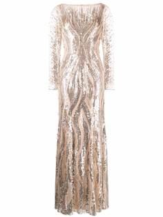 Jenny Packham декорированное вечернее платье