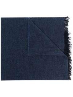 Kiton шарф с бахромой
