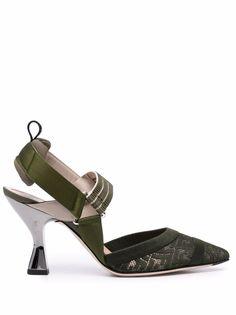 Fendi туфли Colibri 85 с ремешком на пятке