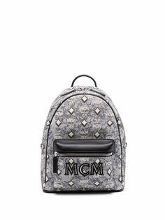 MCM жаккардовый рюкзак с монограммой