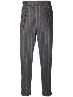 Eleventy зауженные брюки в тонкую полоску