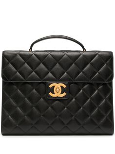 Chanel Pre-Owned стеганый портфель 1998-го года с логотипом CC