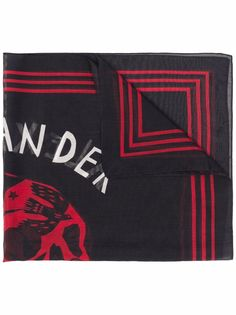 Alexander McQueen платок с принтом Skull