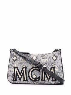 MCM сумка через плечо с вышитым логотипом
