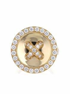 Van Cleef & Arpels кольцо Boutonnière из желтого золота с бриллиантами