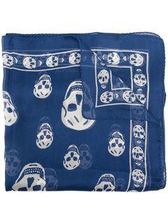 Alexander McQueen шелковый платок с принтом
