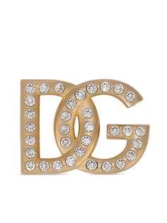 Dolce & Gabbana брошь с кристаллами