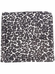 Gabriele Pasini шелковый платок с леопардовым принтом