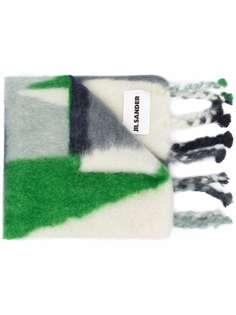 Jil Sander шарф в стиле колор-блок