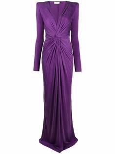 Elisabetta Franchi вечернее платье со сборками