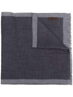 Z Zegna шарф с контрастной отделкой