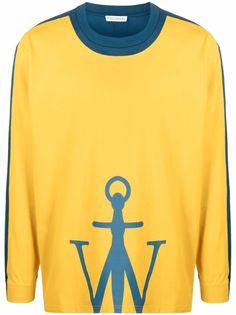 JW Anderson футболка с длинными рукавами и логотипом Anchor