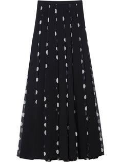 Carolina Herrera плиссированная юбка макси в горох