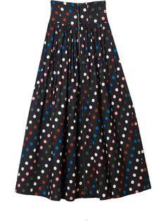 Carolina Herrera юбка макси в горох