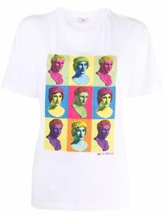 ETRO футболка с принтом