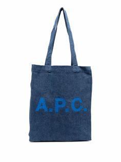 A.P.C. джинсовая сумка-тоут с логотипом