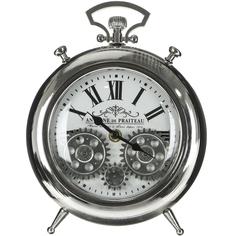 Часы настольные IsTime Gear серебряные 18,5х5,6х25 см