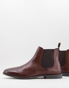 Классические кожаные ботинки челси коричневого цвета Silver Street-Коричневый цвет